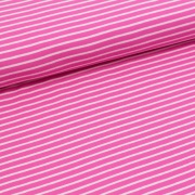 Biojersey Streifen - pink-rosa