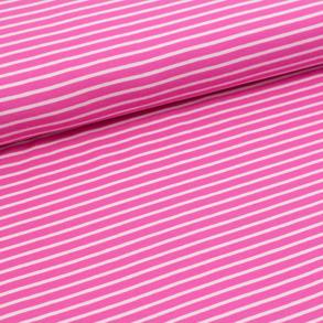 Biojersey Streifen - pink-rosa - Biojersey Streifen - pink-rosa
