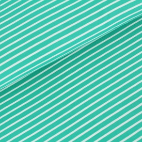 Biojersey Streifen - smaragd - Biojersey Streifen - smaragd