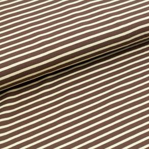 Biojersey Streifen - brun-beige - Randig brun/beige