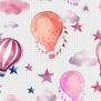 Luftballonger - Luftballonger rosa/prickig bakgrund