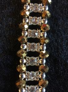 Glittrigt armband ( finns i flera färger) - Glittrigt armband i guld/silver 18cm