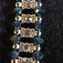 Glittrigt armband ( finns i flera färger) - Glittrigt armband i blå/silver 18cm