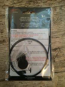 Kabel svart ger 100cm rundsticka med 1 kabelnyckel &2 ändstoppar - Kabel svart ger 100cm rundsticka med 1 kabelnyckel &2 ändstoppar