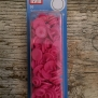 Knappar - colorsnaps Rosa 30 st tryckknappar i plast. Runda 12,4 mm. Enkelt att använda med tryckknappstången