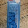 Knappar - colorsnaps Blå 30 st tryckknappar i plast. Runda 12,4 mm. Enkelt att använda med tryckknappstången