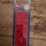 Knappar - colorsnaps Röd 30 st tryckknappar i plast. Runda 12,4 mm. Enkelt att använda med tryckknappstången