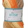 Elise Flerfärgade garn - 69010Orange/ockra/beige batik