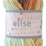 Elise Flerfärgade garn - 69020Turkos kolabrun batik
