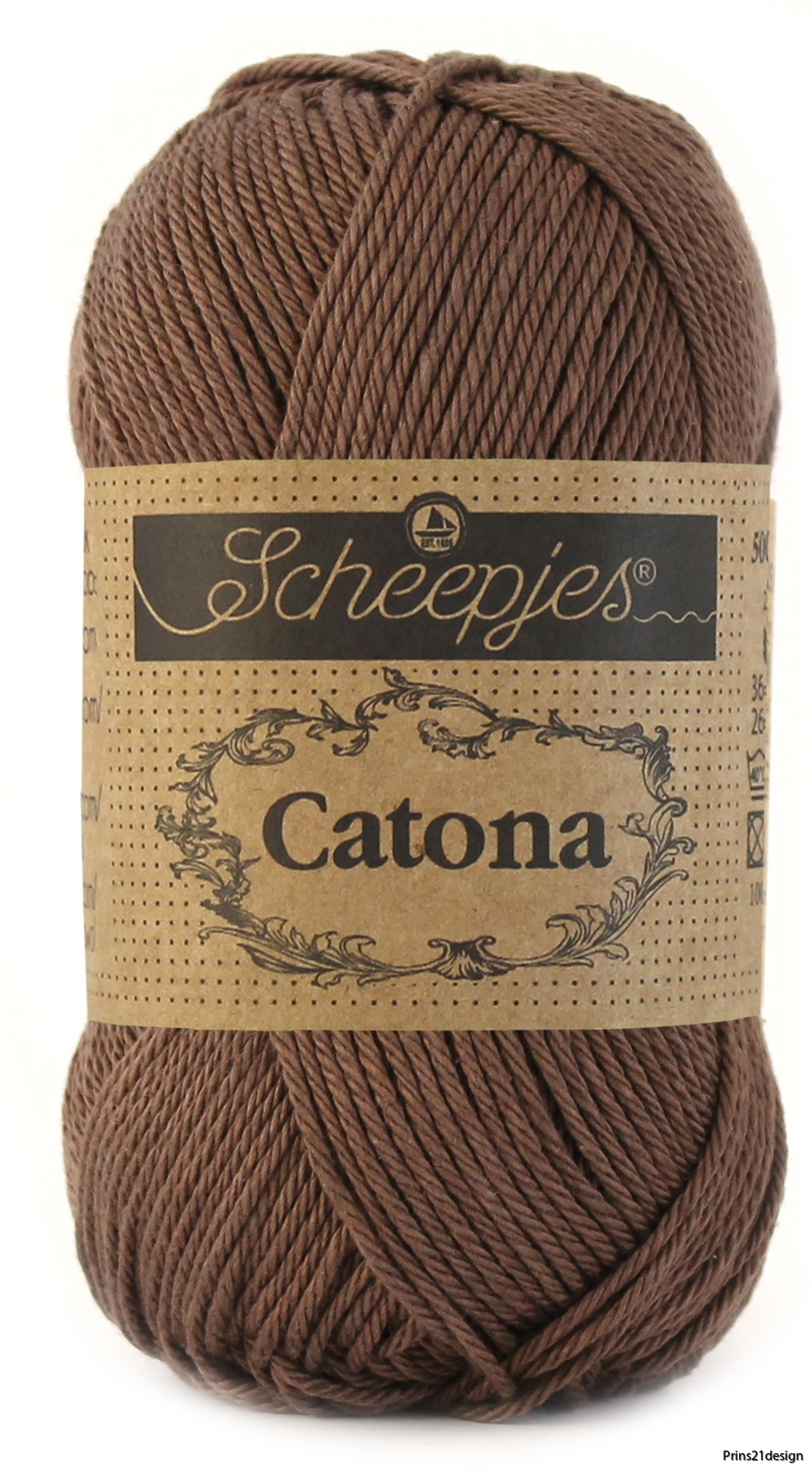 Scheepjes Catona 507 Chocolate