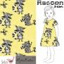 Raccon i sommriga färger - gul