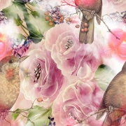 Flowers/ bird