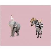 Elefant/zebra rosa