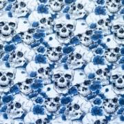 Dödskalle blå