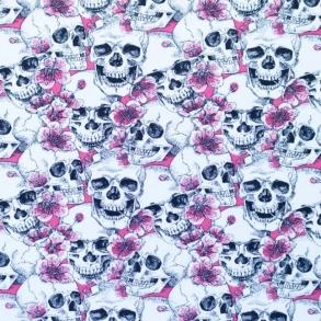 Dödskalle rosa - Dödskalle Rosa
