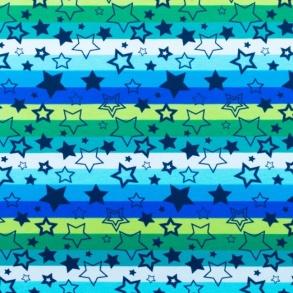 BlåRandig med stjärnor - Blå randig med stjärnor