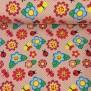 Små fjärilar och blommor i rosa - Små fjärilar och blommor rosa