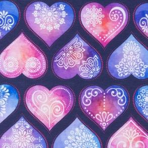 Ornament Hearts Dark Blue - Ornament Hearts Dark Blue