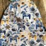 Mössa dalahäst finns i flera färger - Mössa dalahästar blå/gul 56/58