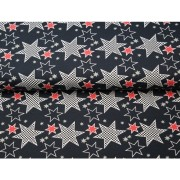 Stars black and red