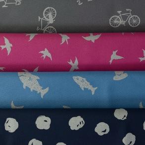 Softshell reflex finns i 4 färger - Softshell grå med cyklar