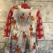Julklänning stl 92 Bambi