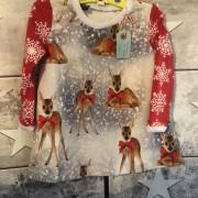 Julklänning stl 74/80 Bambi