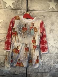 Julklänning stl 92 Bambi - Julklänning Bambi stl 92