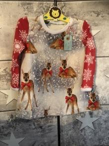 Julklänning stl 74/80 Bambi - Julklänning Bambi stl 74/80