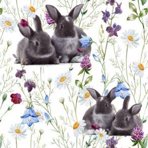 Ängsblommor med kaniner - Ängsblommor med kaniner
