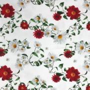 Blomma röd och vit