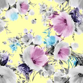BLOMMA MED VATTENFÄRG GUL - Blomma med vattenfärg gul