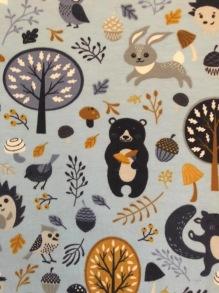 Skogsdjur finns i 2 färger - skogsdjur ljusblå