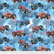 Traktor röda