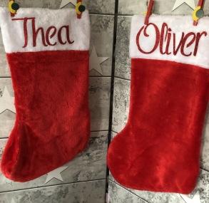 Julstrumpa med namn - Julstrumpa med namn