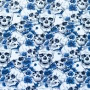 Stuvbit dödskalle blå