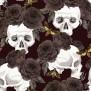 SCULLS finns i två färger - Skulls svart svarta rosor