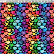 Hearts  Multicolor black