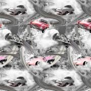 Bilbana rosa grå