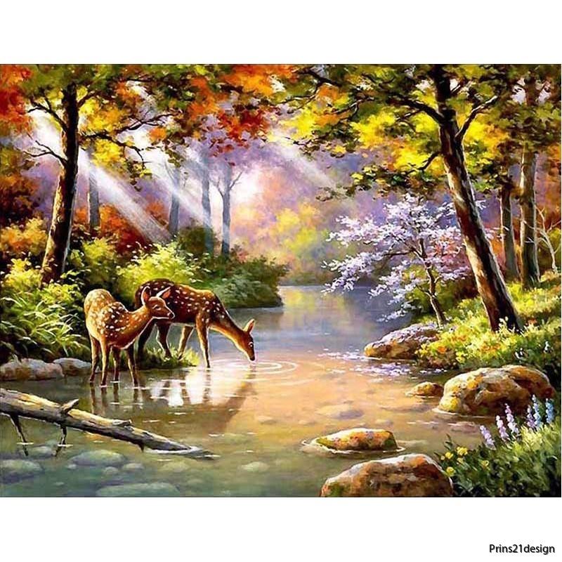 wholesale-distributor-morning-forest-sunrise-deer-diamond-painting-full-drilled-5121048