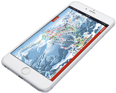 Piste map used on smartphone and tablets