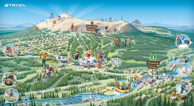 Trysil illustrated map