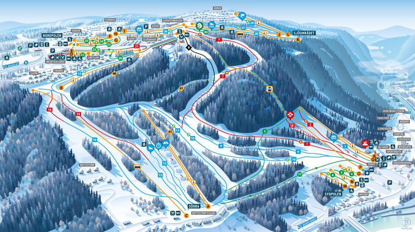 Branäs, Sweden piste map 2017
