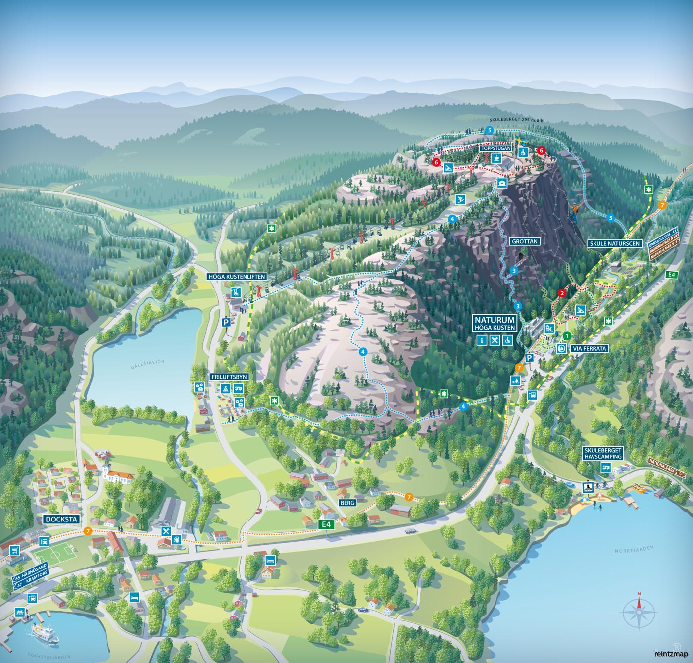 skuleberget karta Illustrated maps | reintzmap design   Piste maps & Illustrated maps skuleberget karta
