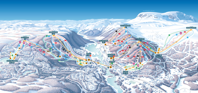 Geilo, Norway piste map 2017