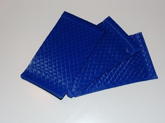 Fodral quilted blå