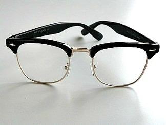 Klarglas clubmastermodell svart