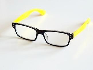Läsglas Lissabon gul/svart