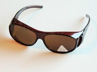 Solskydd ovanpå bruna ovala - 135 mm inuti