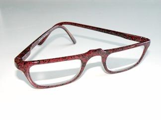 Läsglas rödbruna med lägre båge